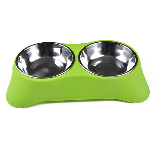 Gamelle inox double avec support Chiens Doggy & Co 5