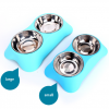 Gamelle inox double avec support Chiens Doggy & Co 16