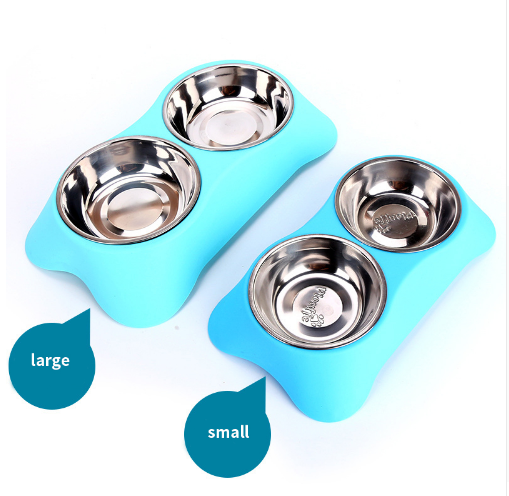 Gamelle inox double avec support Chiens Doggy & Co 7