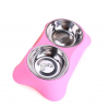 Gamelle inox double avec support Chiens Doggy & Co 13
