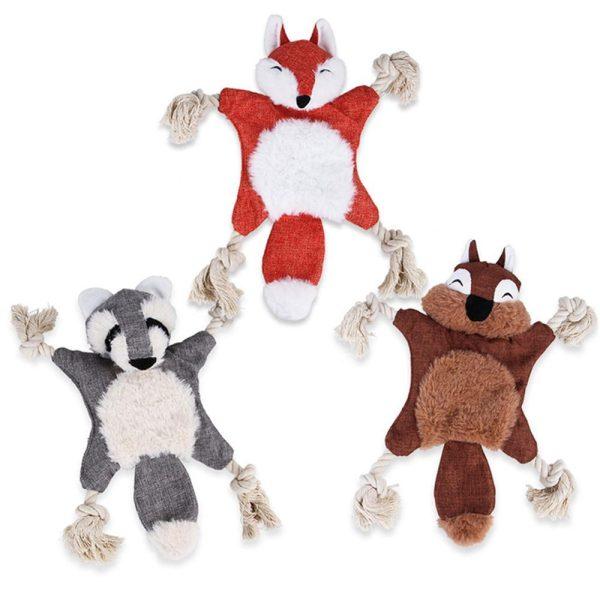 Peluche et jouet pour chien en forme d'animaux