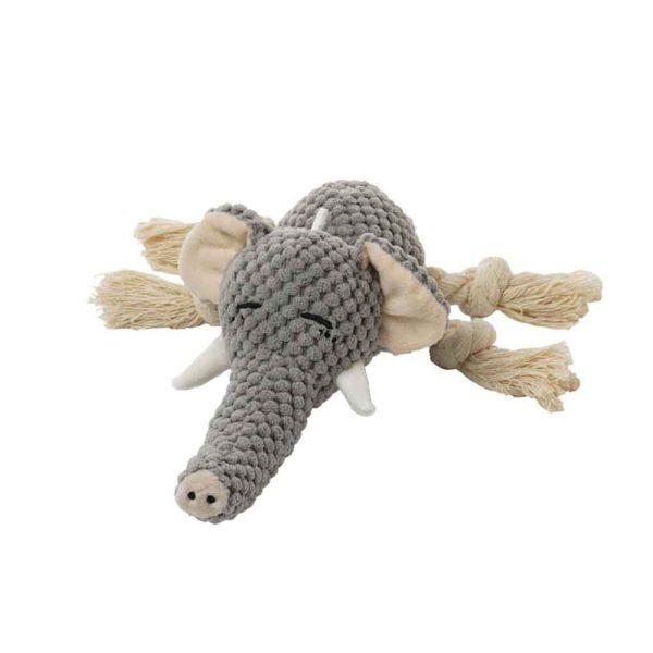 Jouet peluche pour chien éléphant