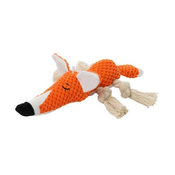 Jouet peluche pour chien renard orange