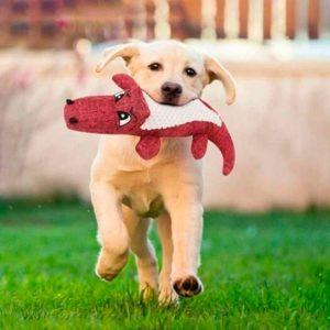 Peluche pour chien crocodile